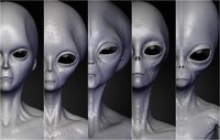 3d model realistic aliens sculpts 1