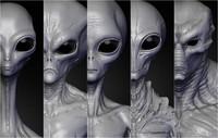 realistic aliens sculpts 3d 3ds
