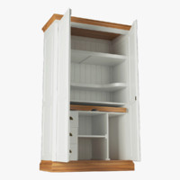 3d cabinet rendering modeled