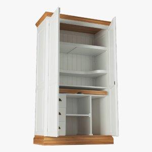 3d cabinet rendering modeled