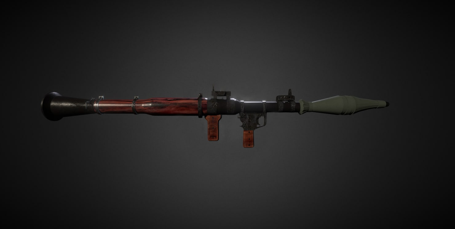 3d model ready rpg 7 launcher
