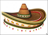 mexican hat cartoon 3d model