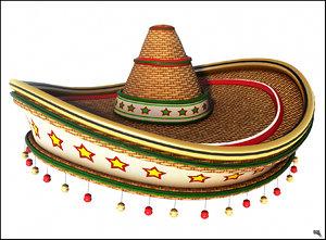 mexican hat cartoon 3d model