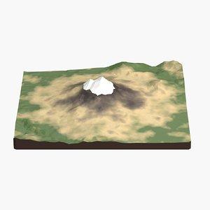 3d landscape mount shasta