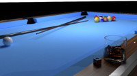 billiard table 3d 3ds