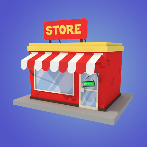 stylized store 3d max