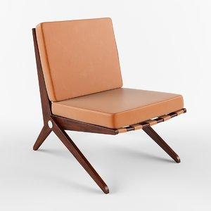 scissor chair pierre 3d model