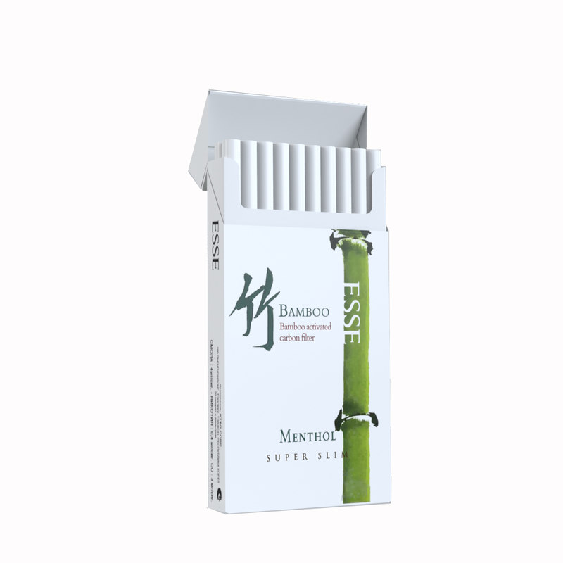 3d opened cigarettes esse bamboo model