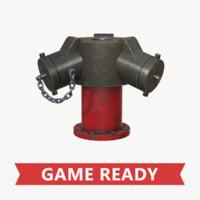 pbr industrial water hydrant 3d obj