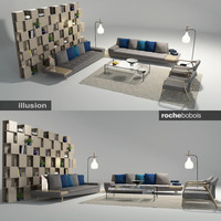 Roche Bobois Illusion Sofa Set