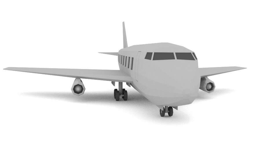 blender airplane commercial fbx
