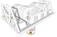3d winch pod model