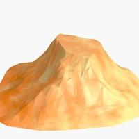 Cartoon low poly mountain v1
