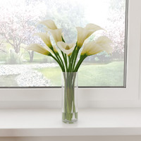3d white calla lilies model