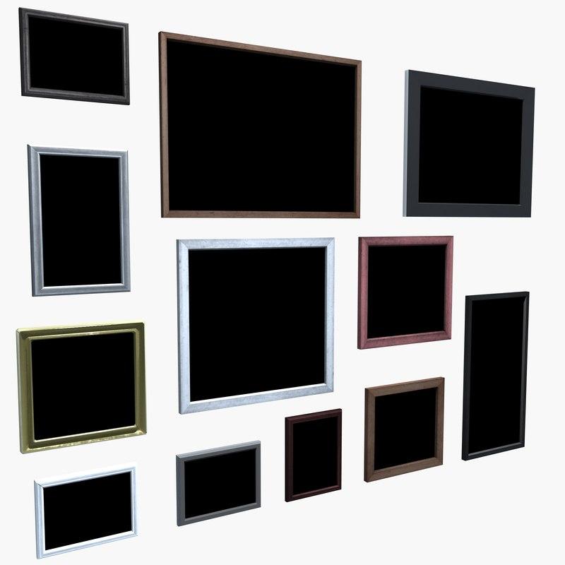 hanging picture frames 3d model