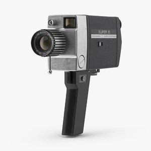 8mm camera 3d model