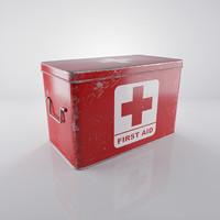 scratched red medicine box max