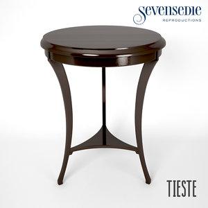 3d model seven sedie tieste table