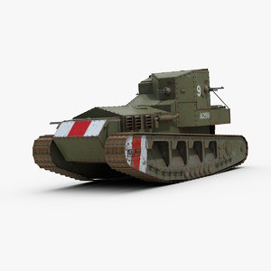 ww1 whippet mark tank 3d 3ds