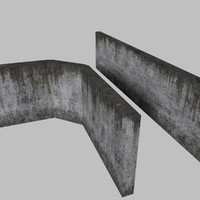 Large Concrete Walls - Bent and Straight