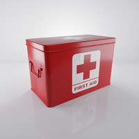 3d model red medicine box