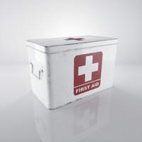 3d max scratched white medicine box