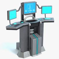 sci-fi control panel 3ds