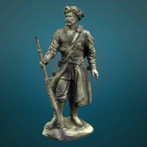 colonist statue obj