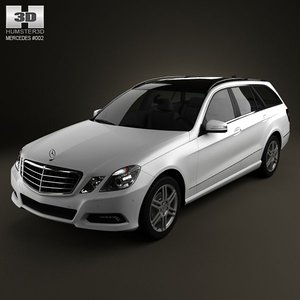 mercedes-benz e-class estate 3d max