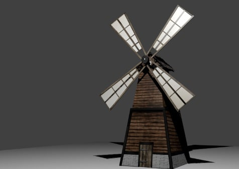 windmill medieval 3d 3ds