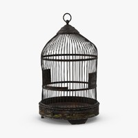 free old bird cage 3d model