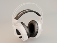 Lowpoly gameobject Headphones SteelSeries Siberia V2
