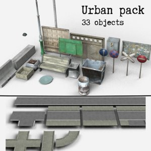 3d mobile pack low-poly model