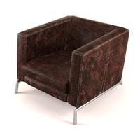 armchair leather 3d model