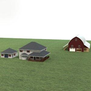 farm scene 3d model