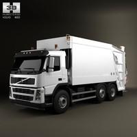truck 6x2 garbage 3d model