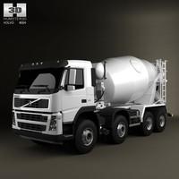 truck 8x4 mixer 3d 3ds
