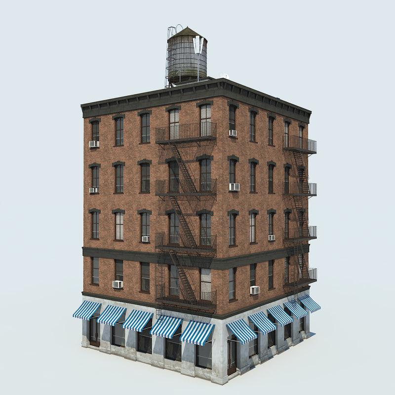 nyc building 05 3d x