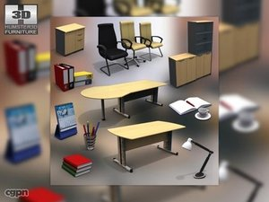 office set 11 3d model