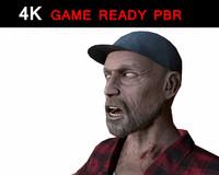 3d model ready zombie