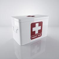white medicine box 3d max