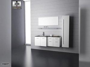 bathroom furniture 09 set 3d c4d