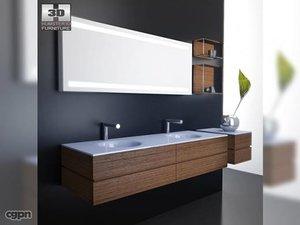 3d model bathroom furniture 10 set