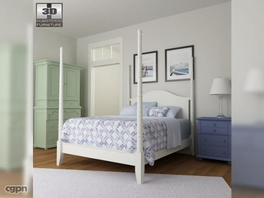 3d model bedroom 15 set bed