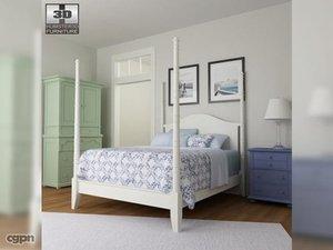 3d model bedroom 15 set bed