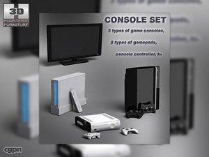 3d console set - video