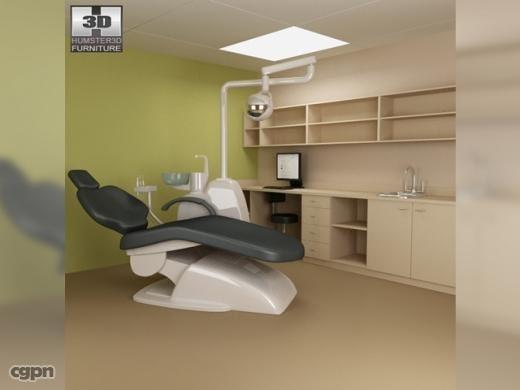 dental surgery - hospital 3d model