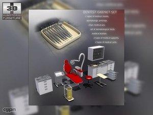 dentist office equipment 3ds
