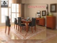 3d max dining room 1 set