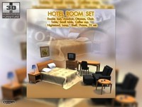 3d hotel room set 01